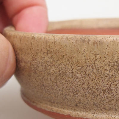 Ceramic bonsai bowl 11 x 11 x 3 cm, color beige - 2