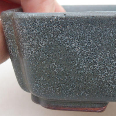 Ceramic bonsai bowl 15 x 11.5 x 4 cm, gray color - 2