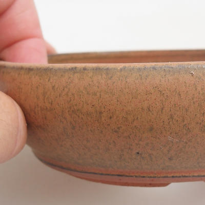Ceramic bonsai bowl 12 x 12 x 3 cm, red color - 2