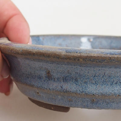 Ceramic bonsai bowl 11,5 x 11,5 x 3 cm, color blue - 2