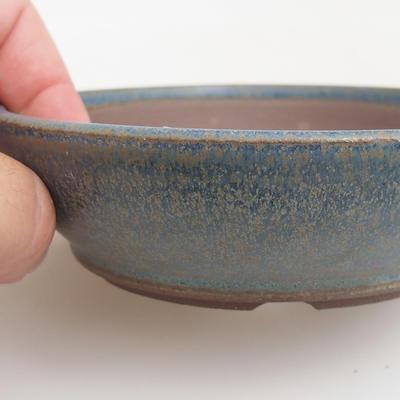 Ceramic bonsai bowl 12 x 12 x 3 cm, color blue - 2