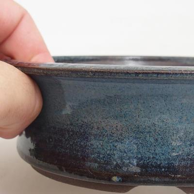 Ceramic bonsai bowl 13 x 13 x 4 cm, color blue - 2
