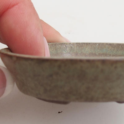 Ceramic bonsai bowl 5,5 x 5,5 x 1,5 cm, color green - 2