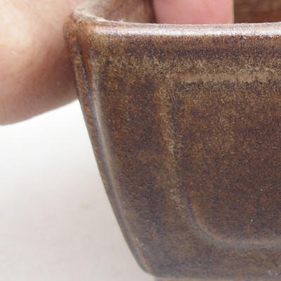 Ceramic bonsai bowl 13 x 9 x 4.5 cm, brown color - 2