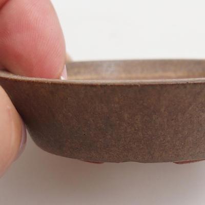 Ceramic bonsai bowl 6 x 6 x 1,5 cm, color brown - 2