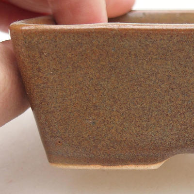 Ceramic bonsai bowl 12 x 9 x 3.5 cm, color brown - 2