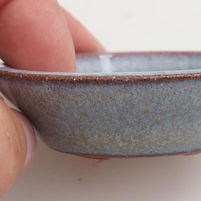 Ceramic bonsai bowl 5,5 x 5,5 x 1,5 cm, color blue - 2