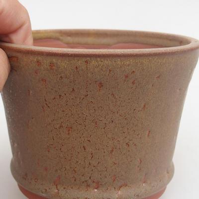 Ceramic bonsai bowl 11,5 x 11,5 x 8 cm, color brown - 2