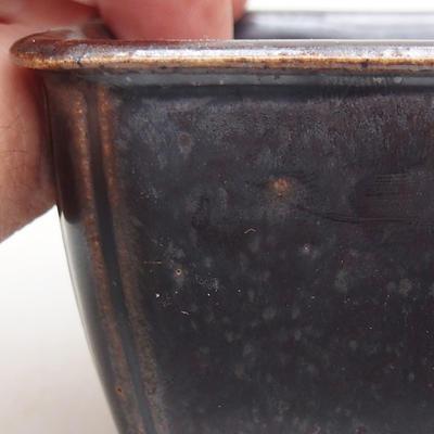 Ceramic bonsai bowl 8 x 8 x 5 cm, metal color - 2