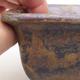 Ceramic bonsai bowl 9 x 9 x 5.5 cm, brown color - 2/4