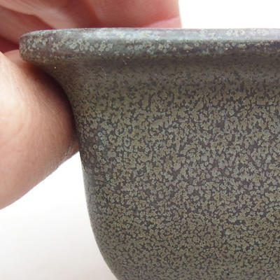 Ceramic bonsai bowl 9 x 9 x 5.5 cm, gray color - 2
