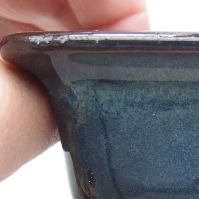 Ceramic bonsai bowl 9 x 9 x 5.5 cm, color blue - 2