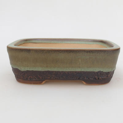 Ceramic bonsai bowl 15 x 10 x 5 cm, color green - 2