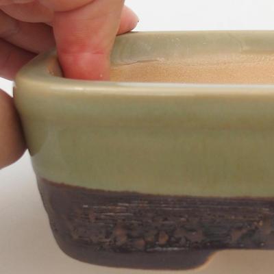 Ceramic bonsai bowl 15 x 10 x 5 cm, color green - 2