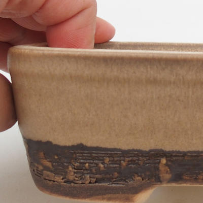 Ceramic bonsai bowl 15 x 10 x 5 cm, color brown - 2