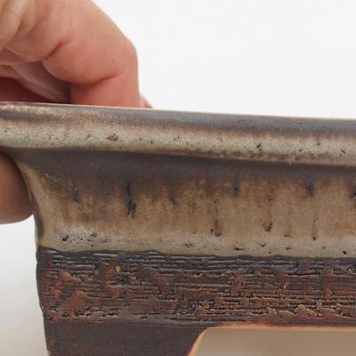 Ceramic bonsai bowl 18 x 13 x 5,5 cm, gray-brown color - 2