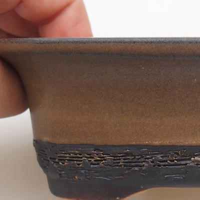 Ceramic bonsai bowl 12 x 9 x 5 cm, color brown - 2