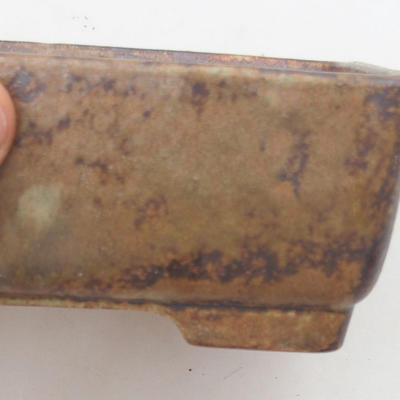 Ceramic bonsai bowl 15 x 11 x 5.5 cm, color brown-green - 2nd quality - 2