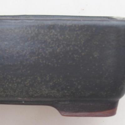 Ceramic bonsai bowl 15 x 11 x 5.5 cm, brown-blue color - 2nd quality - 2