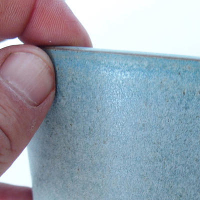 Ceramic bonsai bowl 11,5 x 11,5 x 8 cm color blue - 2