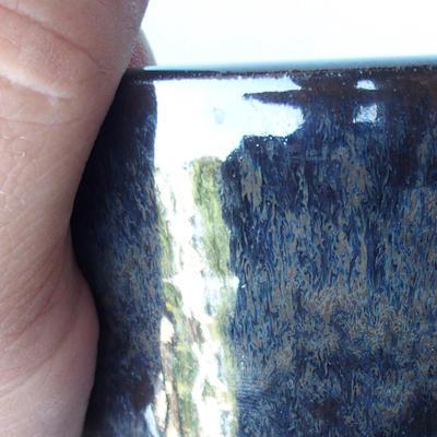 Ceramic bonsai bowl 12 x 12 x 7,5 cm brown-blue color - 2
