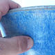 Ceramic bonsai bowl 25 xx 25 x 21cm color blue - 2/3