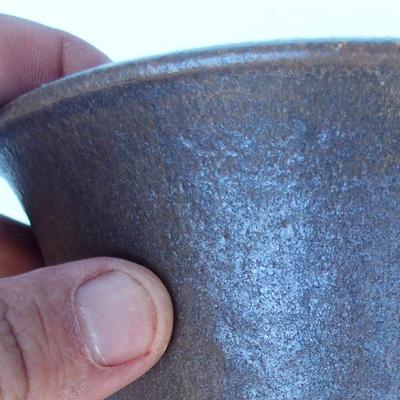 Ceramic bonsai bowl 15,5 x 15,5 x 17,5 cm color brown - 2