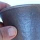 Ceramic bonsai bowl 15,5 x 15,5 x 17,5 cm color brown - 2/3