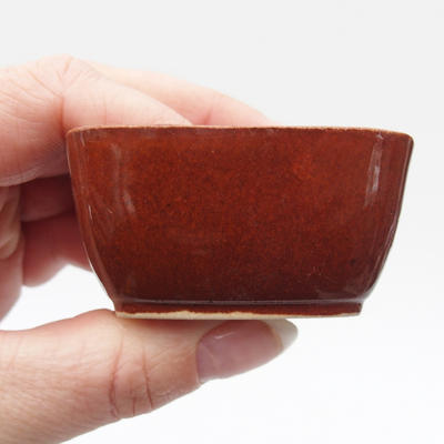 Mini bonsai bowl 6 x 5 x 2,5 cm, color brown - 2
