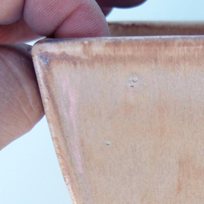 Ceramic bonsai bowl 11 x 11 x 7 cm color pink - 2