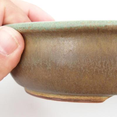 Ceramic bonsai bowl 22 x 17 x 5 cm, brown-green color - 2