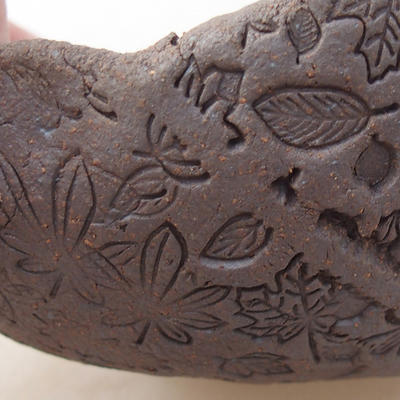 Ceramic bonsai bowl 12 x 10 x 6 cm, gray color - 2nd quality - 2