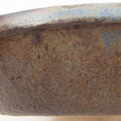 Ceramic bonsai bowl 15 x 15 x 4 cm, color brown - 2nd quality - 2