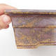 Ceramic bonsai bowl 22 x 16 x 7,5 cm, brown-green color - 2/4