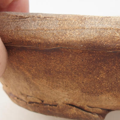 Ceramic bonsai bowl 16 x 16 x 5 cm, gray color - 2nd quality - 2