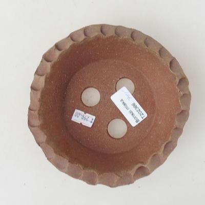 Ceramic bonsai bowl 12 x 12 x 4 cm, gray color - 2nd quality - 2