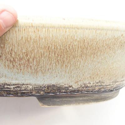 Bonsai bowl 38 x 30 x 9 cm, color gray-brown - 2
