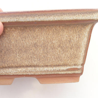 Bonsai bowl 14.5 x 12 x 7 cm, color brown - 2