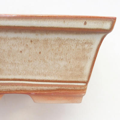 Bonsai bowl 14.5 x 12 x 7 cm, brown-beige color - 2