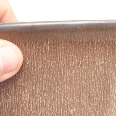 Bonsai bowl 11 x 11 x 11.5 cm, color brown - 2