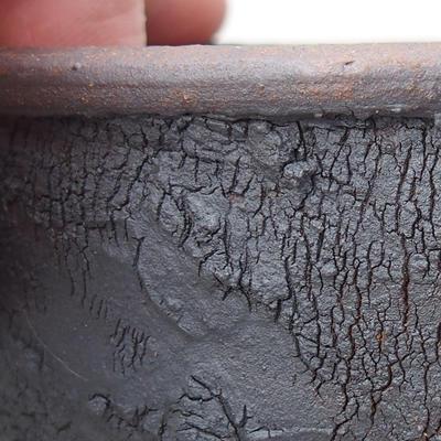 Ceramic bonsai bowl 10 x 10 x 4.5 cm, color cracked - 2