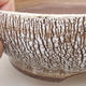 Ceramic bonsai bowl 16.5 x 16.5 x 6 cm, white color - 2/4