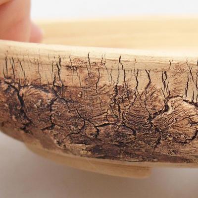 Ceramic bonsai bowl 15.5 x 15.5 x 3 cm, color cracked - 2