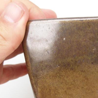Ceramic bonsai bowl 2nd quality - 11 x 11 x 8,5 cm, color green - 2