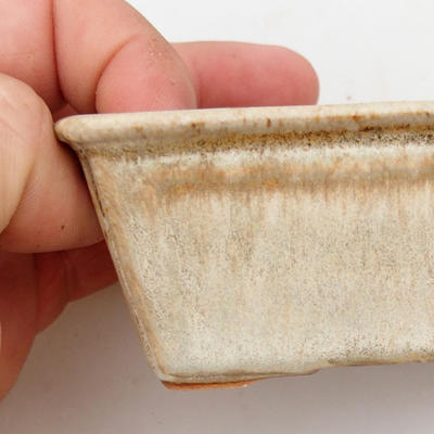 Ceramic bonsai bowl 2nd quality - 12 x 8 x 4 cm, color gray - 2
