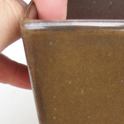 Ceramic bonsai bowl 2nd quality - 8 x 8 x 10 cm, color green - 2
