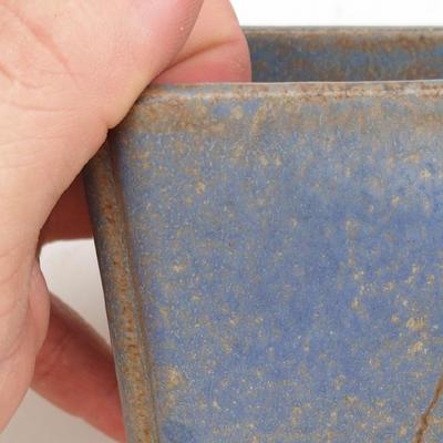 Ceramic bonsai bowl 2nd quality - 7 x 7 x 5 cm, brown-blue color - 2