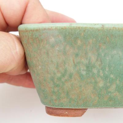 Ceramic bonsai bowl 2nd quality - 13 x 10 x 5,5 cm, brown-green color - 2