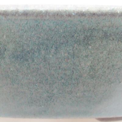 Ceramic bonsai bowl 18.5 x 18.5 x 4 cm, color green - 2