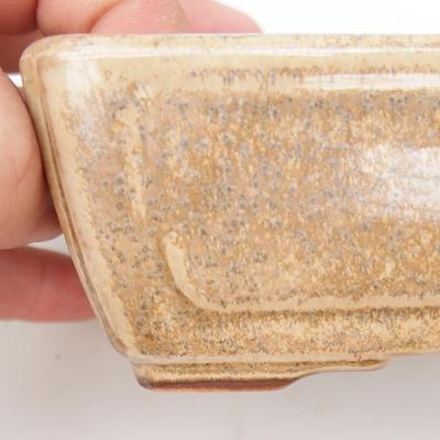 Ceramic bonsai bowl 2nd quality - 13 x 9 x 4,5 cm, color beige - 2